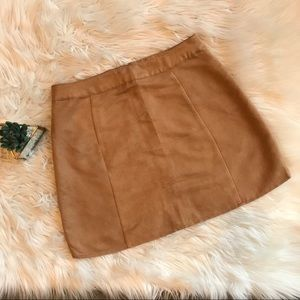 💰⬇️🔥 Women's Brown Suede mini skirt *NWT* LARGE
